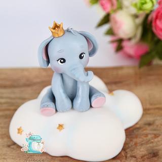 Elephant cake topper  - Cake by Arianna