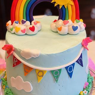 Rainbow birthday cake - Cake by MerMade