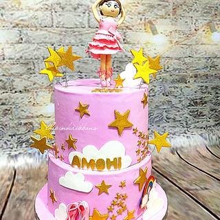 Ballerina baby girl cake