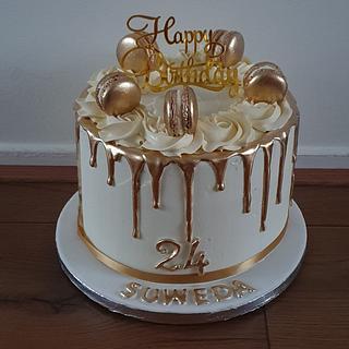Gold white cake - Cake by Cake Rotterdam
