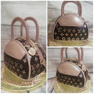 LV purse cake - Cake by Fernandas Cakes And More