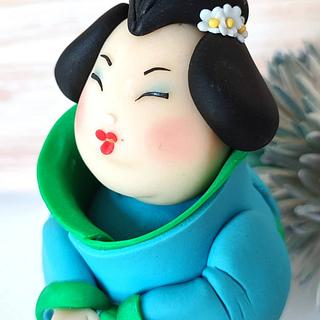 Japanese doll  - Cake by IlsognodiAnnette