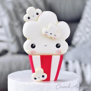 Cute Popcorn Cake Topper