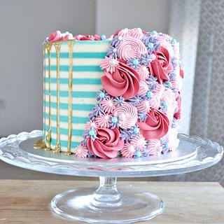 Floral sprinkle cake