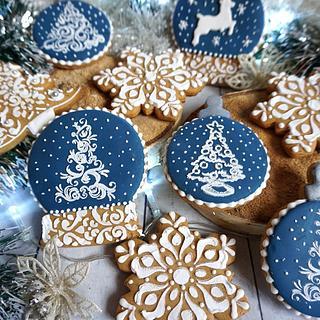 Blue Christmas - Cake by Oli Ivanova