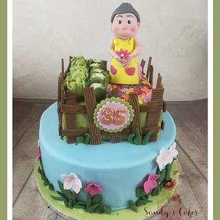 Grandma's Garden - Cake by Sandy's Cakes - Torten mit Flair