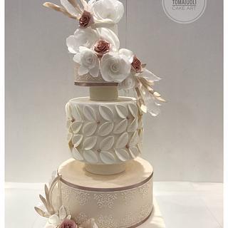 Modern wedding cake  - Cake by Marina Tomaiuoli Cake Art