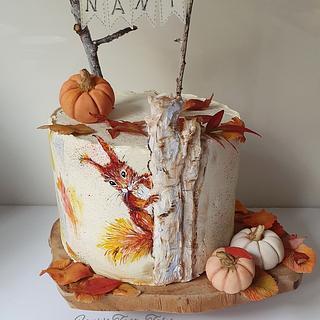 Little squirrel autumn cake - Cake by Fanie Feickert-Sell