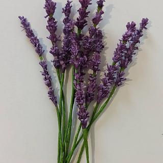 Wafer paper lavender - Cake by Fondantfantasy