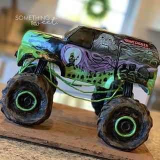 Grave Digger Monster Truck Cake - Cake by Something Sweet