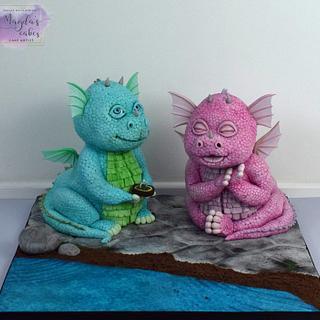 Dragons - Cake by Magda's Cakes (Magda Pietkiewicz)