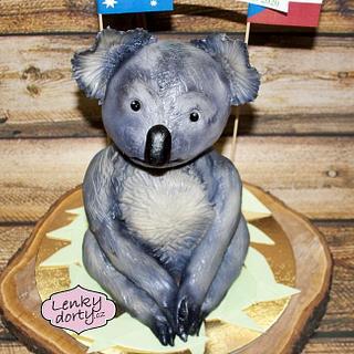 Koala 3D cake