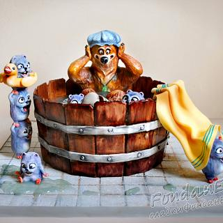 Grizzy and The Lemmings - 3D cake - Cake by FondanEli