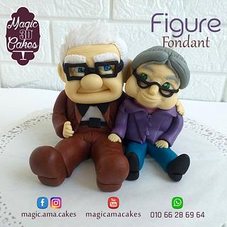 Carl Fredricksen Figure - Cake by Ahmed - Magic 3D Cakes