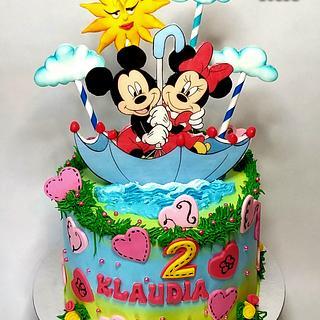 Minnie and Mickey - Cake by Marek