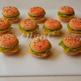Macarons or burger? - Cake by OlgaC
