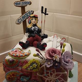 Boho and Ski cake