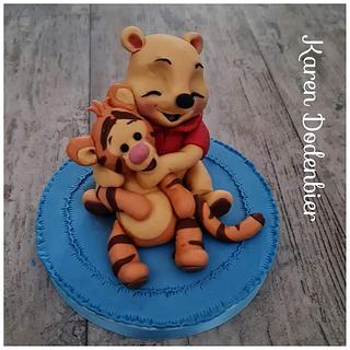 Winnie the Pooh topper  - Cake by Karen Dodenbier