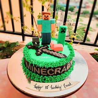 Minecraft cake - Cake by Arti trivedi