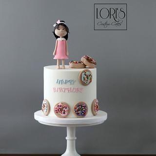 Donut lover  - Cake by Lori Mahoney (Lori's Custom Cakes)