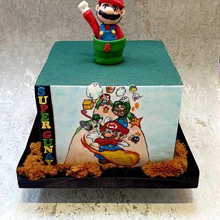 Handpainted Mario