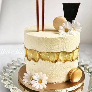 Lemon Faultline Cake
