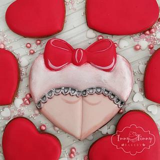 Valentine's day cookie ass