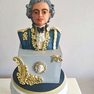 Sculpture : 1750's English man  - Cake by Othonas Chatzidakis