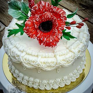 Poppy Bridal Shower Cake - Cake by Regina Coeli Baker