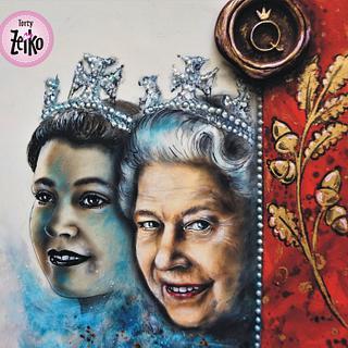 Queen Elizabeth II. - Cake by Torty Zeiko
