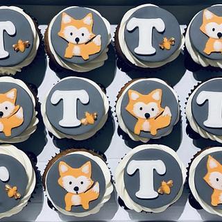 Foxy New Baby Boy Cupcakes