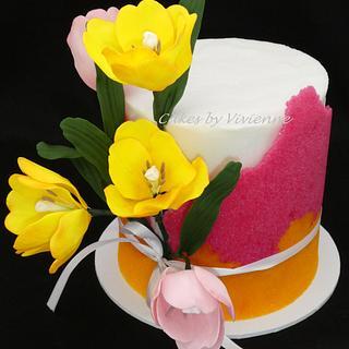 Tulip Cake - Cake by Cakes by Vivienne