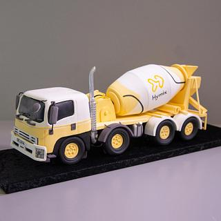 3D Concrete Truck Cake