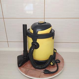 Vacuum cleaner 3d cake