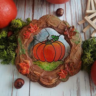 My autumn - pumpkin on isomalt.