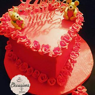 Valentines cake by Occasions
