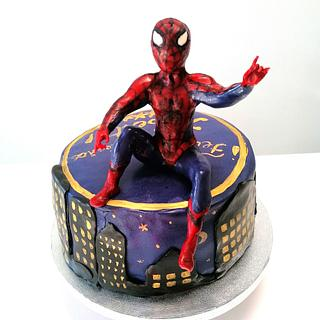 Spiderman small cake theme