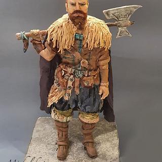 vikink hand sculpted