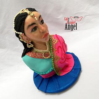 Hindu Woman Dress - Cake by Angel Torres