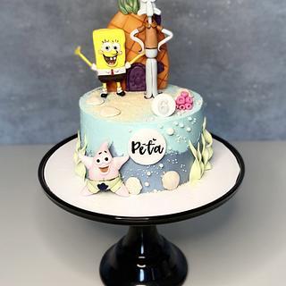 Spongebob cake  - Cake by Silvia Gundová