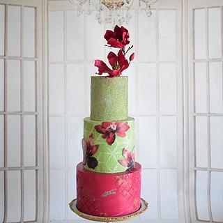 Blooming Burgundy  - Cake by Indulgence by Shazneen Ali