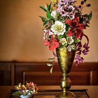 Still Life Florals Collaboration  - Cake by Veronica Seta