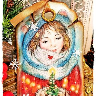 Christmas cookies/GIRL - Cake by Galya's Art
