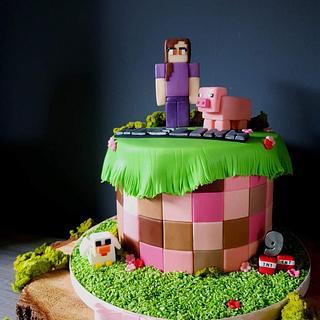 Minecraft  - Cake by Radoslava Kirilova (Radiki's Cakes)