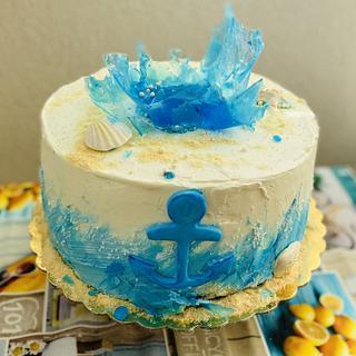Buttercream sea cake 🍰