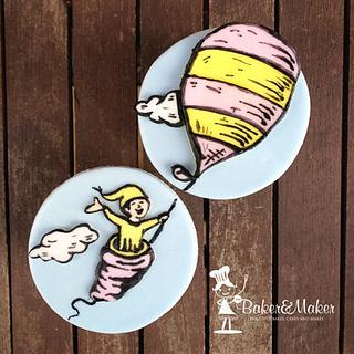 Dr Suess Oh the Place You'll go Handpainted cupcakes