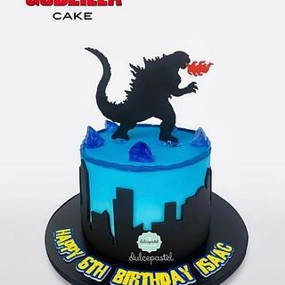 Torta Godzilla en Medellín realizada por Dulcepastel.com - Cake by Dulcepastel.com