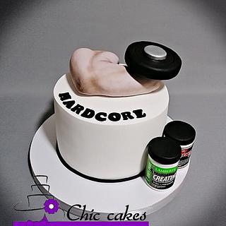 Strong man cake