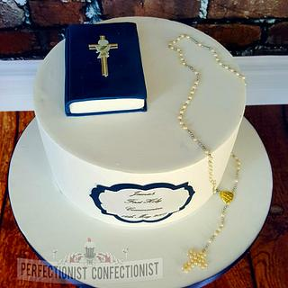 Jamie - Communion Cake - Cake by Niamh Geraghty, Perfectionist Confectionist