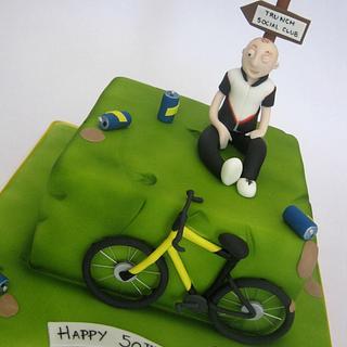 Drunken Biker Cake